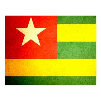 Sun besó la bandera de Togo Postales