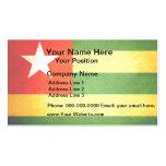 Sun besó la bandera de Togo Tarjeta De Visita