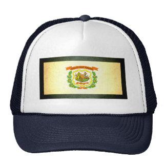 Sun besó la bandera de Virginia Occidental Gorras