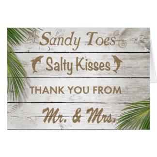 Sun besó los dedos del pie de Sandy que los besos Tarjeta Pequeña