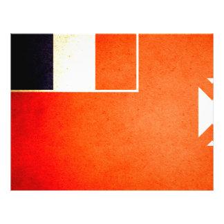 Sun besó Wallis y la bandera de Futuna Tarjeta Publicitaria