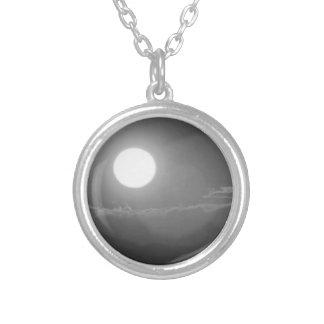 SUN - Black n White Photo BNW B&W Custom Necklace