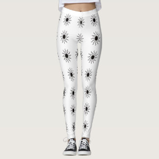 Sun Black Outline Leggings
