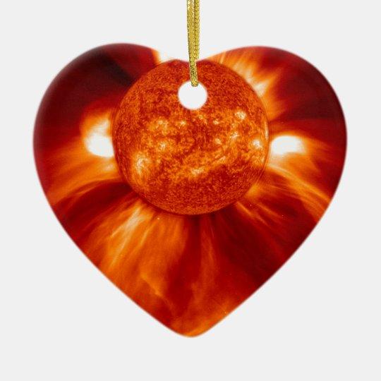 Sun Blast Ceramic Ornament