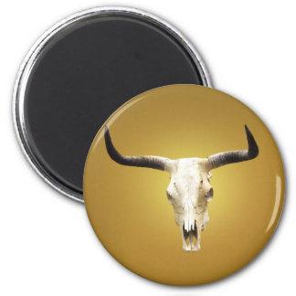 sun bleached steer skull refrigerator magnet