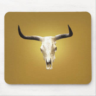 sun bleached steer skull mouse pad