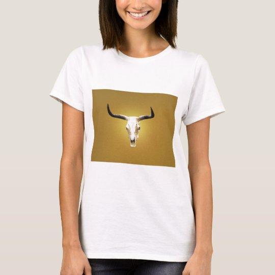 sun bleached steer skull T-Shirt