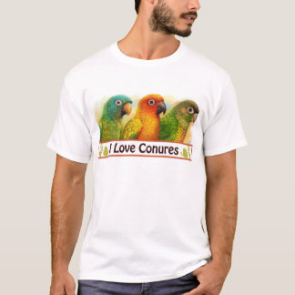 Sun blue-crowned green-cheeked conures T-Shirt