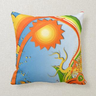 Sun, Bly Sky and Rainbow Pillows