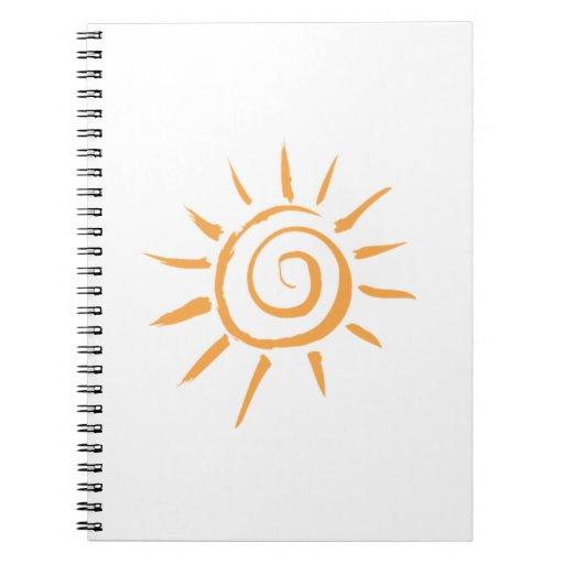 Sun brillante libro de apuntes con espiral