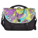 Sun brillante y diseño púrpuras y amarillos de la  bolsas para portatil