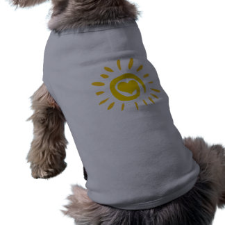 Sun; brushed metal-look tee