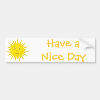 Sun Bumper Sticker