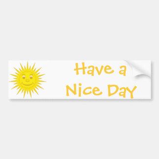 Sun Car Bumper Sticker