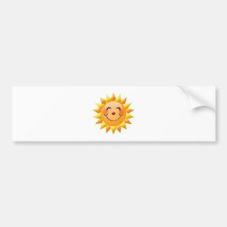 sun bumper sticker