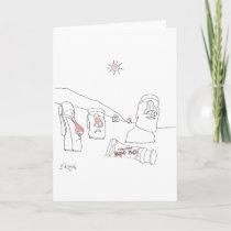 Sun Burn Cartoon 9354 Holiday Card