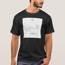 Sun Burn Cartoon 9354 T-Shirt