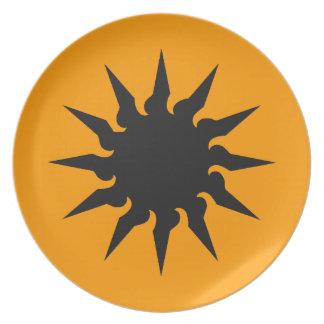 Sun Burst Dinner Plate