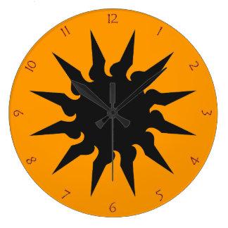 Sun Burst Graffiti Clocks