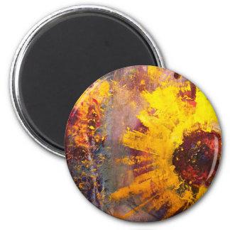 Sun Burst 2 Inch Round Magnet