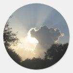 Sun burst through the Clouds Sticker
