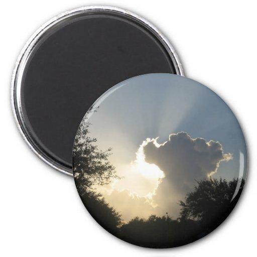 Sun Burst Through the CloudsMagnet Fridge Magnets