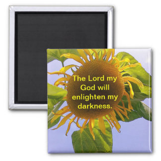 Sun bursting Sunflower 2 Inch Square Magnet