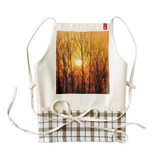 Sun bursting through trees zazzle HEART apron