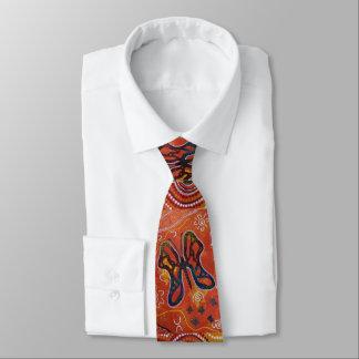Sun Butterfly Aboriginal Tie