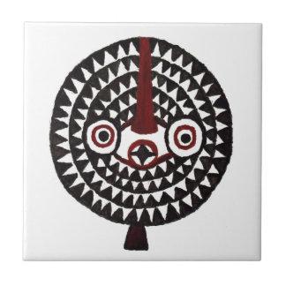 Sun Bwa African Mask Art Gift Tile Trivet Coaster
