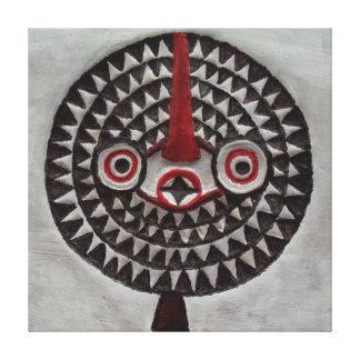Sun Bwa Tribal African Masks Art Canvas Prints