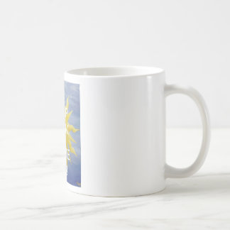 Sun caprichoso taza básica blanca