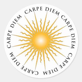 Sun Carpe Diem Book Plate Sticker