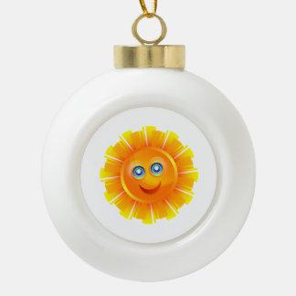 Sun cartoon ornaments