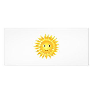 Sun cartoon custom rack cards