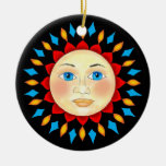 Sun celestial hace frente al ornamento ornamentos para reyes magos