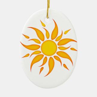 Sun Ceramic Ornament