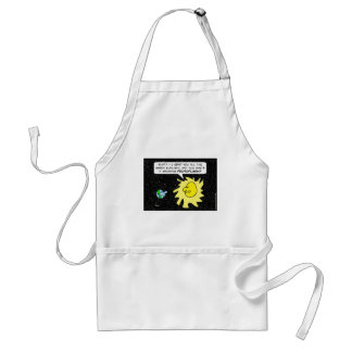 Sun chides earth for growing protoplasm. adult apron