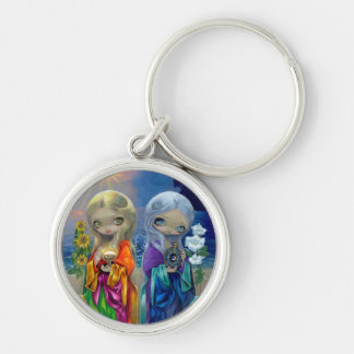"""Sun Child and Moon Child"" Keychain"
