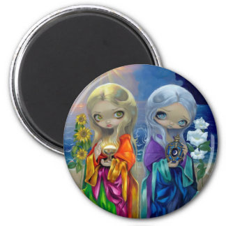 Sun Child and Moon Child Magnet