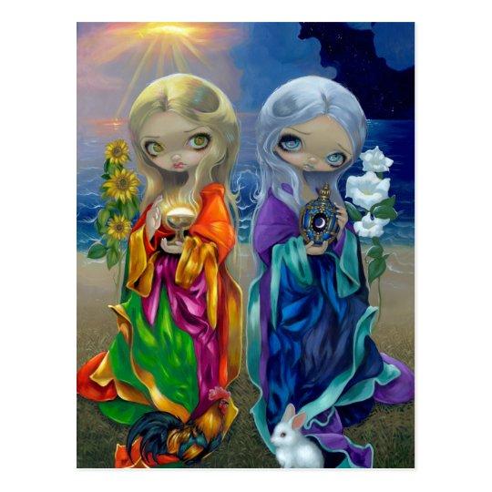 """Sun Child and Moon Child"" Postcard"