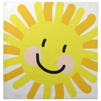 Sun Child Drawing Cloth Napkins