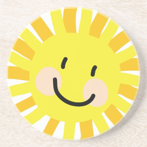 Sun Child Drawing Drink Coasters