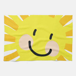 Sun Child Drawing Hand Towels