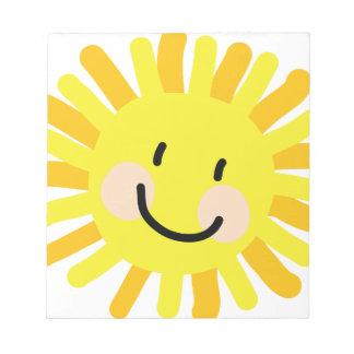 Sun Child Drawing Scratch Pad