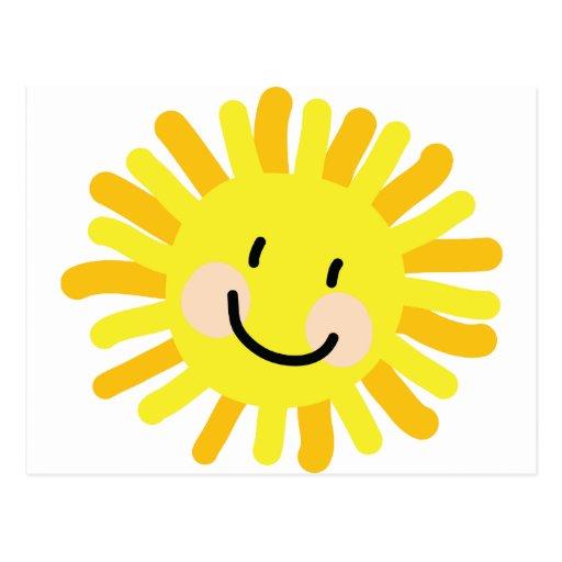 Sun Child Drawing Postcards