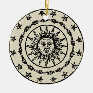 Sun Circle Ceramic Ornament