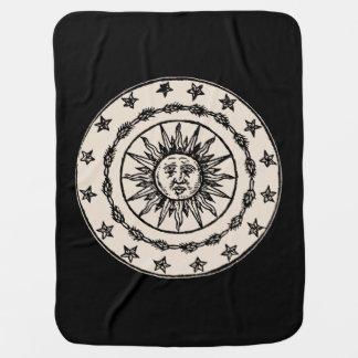 Sun Circle Receiving Blanket