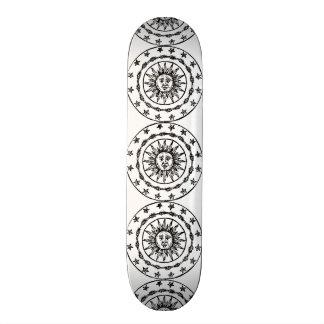 Sun Circle Skateboard Deck