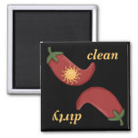 Sun Clean or Dirty Peppers Dishwasher Magnet